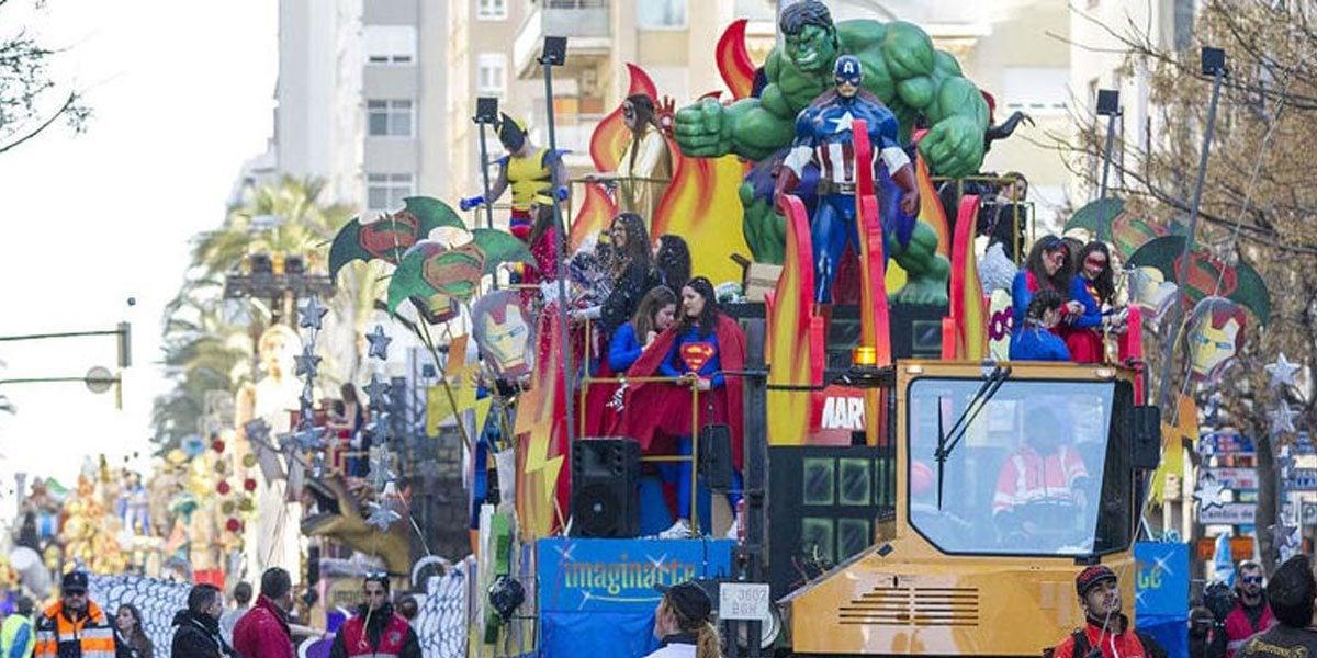 cabalgata carnaval de cadiz 2020